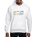 Peace, Love, Maltipoos Hooded Sweatshirt