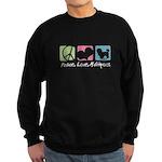 Peace, Love, Maltipoos Sweatshirt (dark)