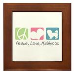 Peace, Love, Maltipoos Framed Tile