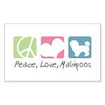 Peace, Love, Maltipoos Sticker (Rectangle 50 pk)
