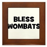 Bless Wombats Framed Tile