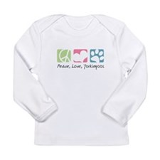 Peace, Love, Yorkiepoos Long Sleeve Infant T-Shirt