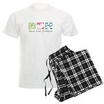 Peace, Love, Yorkiepoos Men's Light Pajamas