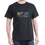 Peace, Love, Yorkiepoos Dark T-Shirt