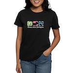 Peace, Love, Yorkiepoos Women's Dark T-Shirt