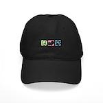 Peace, Love, Yorkiepoos Black Cap