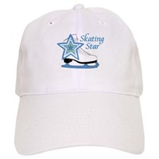 Skating Star Ice Skate Baseball Cap