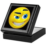 Smirking Smiley Face Keepsake Box