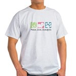 Peace, Love, Lhasapoos Light T-Shirt