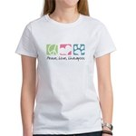 Peace, Love, Lhasapoos Women's T-Shirt