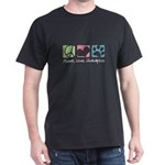 Peace, Love, Lhasapoos Dark T-Shirt