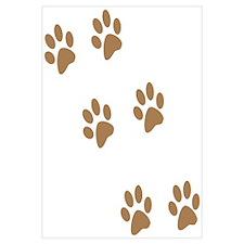 Brown Walk-On-Me Pawprints