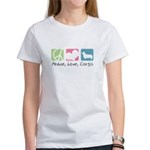 Peace, Love, Corgis Women's T-Shirt