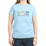 Peace, Love, Corgis Women's Light T-Shirt