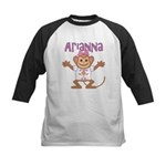 Little Monkey Arianna Kids Baseball Jersey