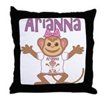 Little Monkey Arianna Throw Pillow