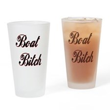 Boat Bitch Drinking Glass
