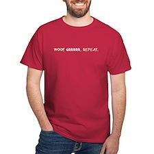 Woof, Grrr, Repeat_T-Shirt
