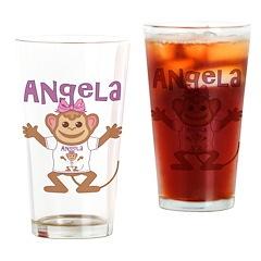 Little Monkey Angela Drinking Glass