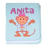 Little Monkey Anita baby blanket