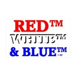 RED, WHITE & BLUE 38.5 x 24.5 Wall Peel