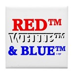 RED, WHITE & BLUE Tile Coaster