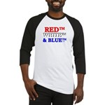 RED, WHITE & BLUE Baseball Jersey