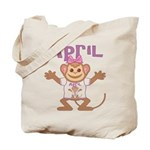 Little Monkey April Tote Bag