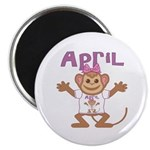 Little Monkey April Magnet