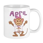 Little Monkey April Mug