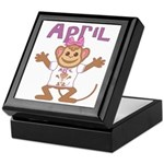 Little Monkey April Keepsake Box