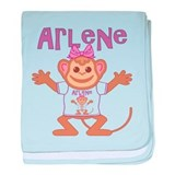 Little Monkey Arlene baby blanket
