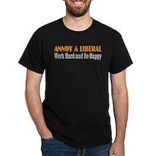 Annoy a Liberal Black T-Shirt