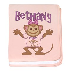 Little Monkey Bethany baby blanket