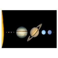 Solar System to Scale Mini Astronomy Print
