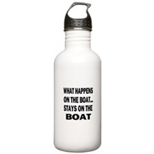 WHAT HAPPENS ON THE BOAT Water Bottle
