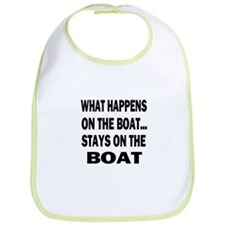 WHAT HAPPENS ON THE BOAT Bib