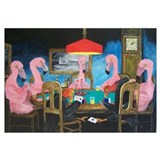Flamingos Playing Poker