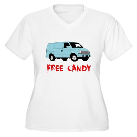 Free Candy Plus Size V-Neck Shirt
