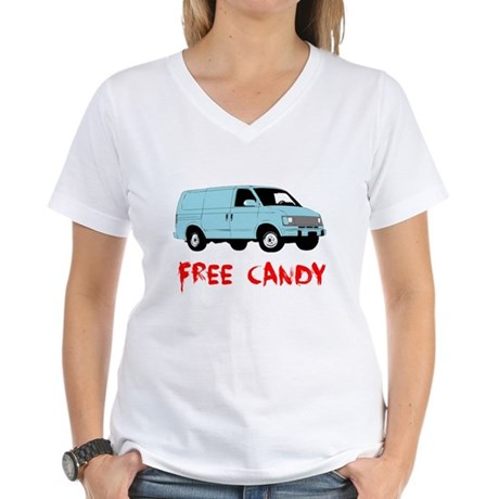 Free Candy Womens V-Neck T-Shirt