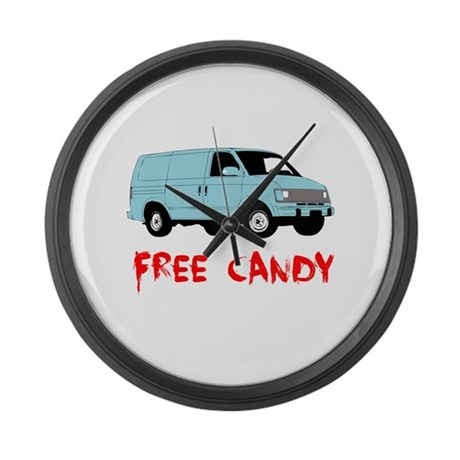 Free Candy Large Wall Clock