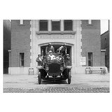 Fire Engine Crew at Firehouse, 1925.