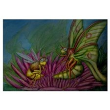 The Luna Moth and the Bee