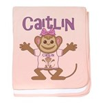 Little Monkey Caitlin baby blanket
