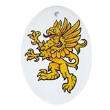 Gryphon Oval Ornament