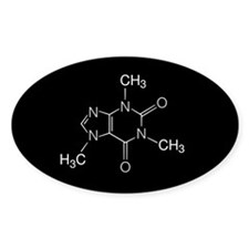 Caffeine Molecule, Decal
