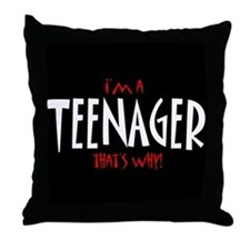 I'm a Teenager Throw Pillow