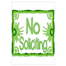 Green No Soliciting