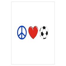 peace, love, soccer