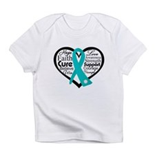PCOS Heart Collage Ribbon Infant T-Shirt